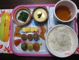 一般保育児の夕食