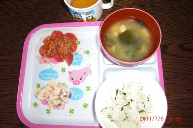 1歳児朝食