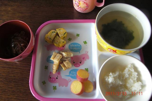 1歳児昼食